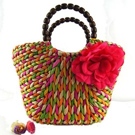 Ericdress Colorized Knitted Tote Bag