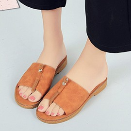 Ericdress Korean Suede Mules Shoes