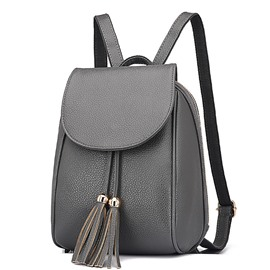 Ericdress All Match Tassel PU Backpack