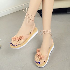 Ericdress Roman Cross Strap Open Toe Flat Sandals