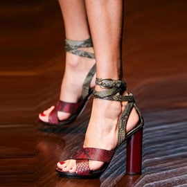 Ericdress Serpentine Buckle Chunky Heel Sandals