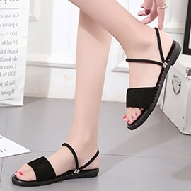 Ericdress Fashion PU Flat Sandals