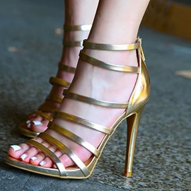 Ericdress Open Toe Zipper Heel Covering Sandals