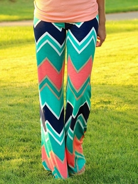 Ericdress Stripe Print Pants