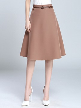 Ericdress A-Line Knee-Length Usual Skirts