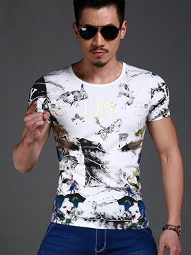 Ericdress Casual Vintage Short Sleeve Men's T-Shirt