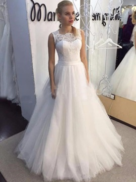 Ericdress Lace A Line Tulle Wedding Dress