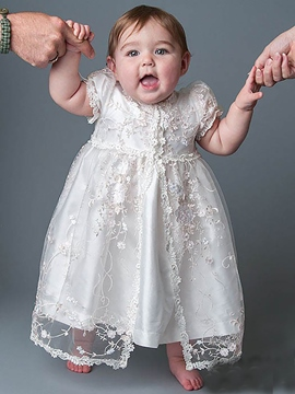Ericdress Lace Tulle Baby Girls 2 Pieces Christening Gown