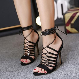 Ericdress Sexy Cross Strappy Stiletto Sandals