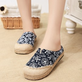 Ericdress Ethnic Floral Print Mules Shoes