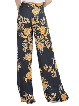 Ericdress High-Waist Floral Pants