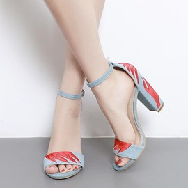 Ericdress Graceful Ankle Strap Chunky Sandals