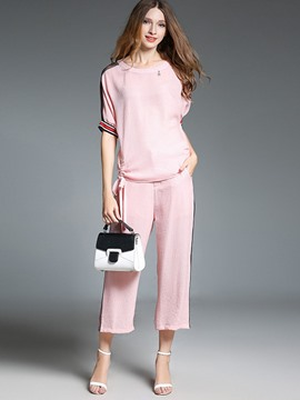 Ericdress Pullover Patchwork Leisure Suits