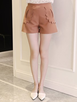 Ericdress Appliques Wide Legs Shorts Pants