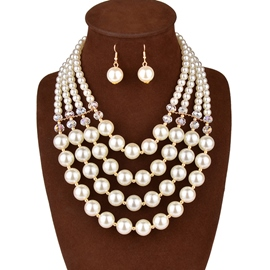 Ericdress Luxury Pearl Jewelry Set for Wedding