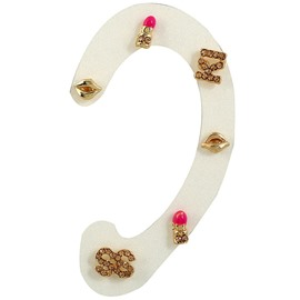 Ericdress Mouth Alloy Diamante Letter Stud Earring