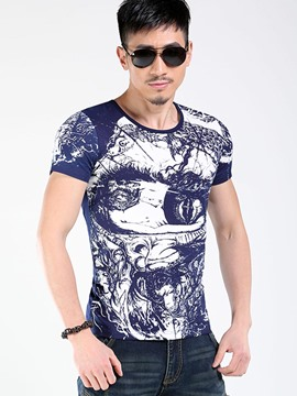 Ericdress Unique Print Crew Neck Slim Men's T-Shirt