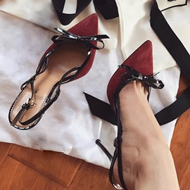 Ericdress Elegant Lady Bowtie Point Toe Pumps