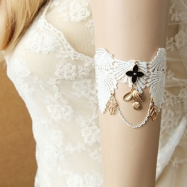 Ericdress Royal Style White Lace Wedding Jewelry Bracelet