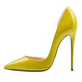 Ericdress Yellow Pointed Toe Stiletto Heel Pumps