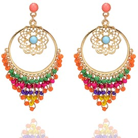 Ericdress Bohemia Style Hollow Out Carving Drop Earring