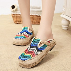 Ericdress Ethnic Embriodery Mules Shoes