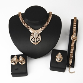 Ericdress Hot Diamante Four-Piece Jewelry Set