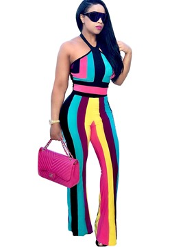 Ericdress Halter Stripe Women Suits