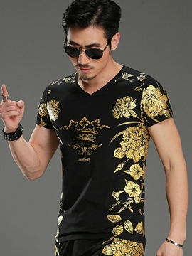 Ericdress Vintage Print Casual Men's T-Shirt