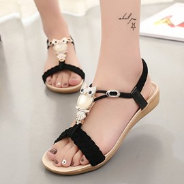 Ericdress Bohemian Open Toe Flat Sandals
