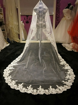 Ericdress Mesh Lace Edge Bridal Veil Cathedral Length