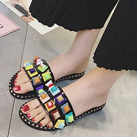 Ericdress Colorful Beads Flat Sandals