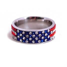 Ericdress Stainless Steel Rhinestone Men's Ring