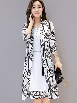 Ericdress A-Line Print Lace-Up Women Suits