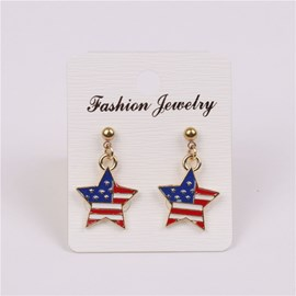 Ericdress Classic American Flag Drop Earring