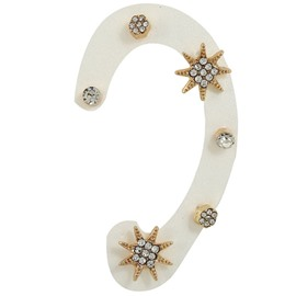 Ericdress Shining Rivet Star Diamante Stud Earring