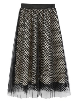 Ericdress Hollow Mesh Layered Usual Skirts