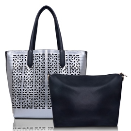 Ericdress Hollow Double Zipper Design Tote Bag