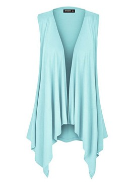 Ericdress Plain Mid-Length Pleated Asymmetric Cape