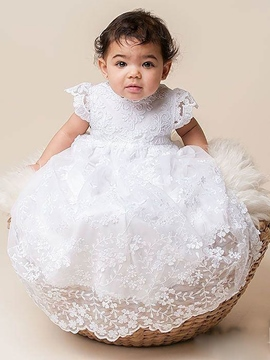 Ericdress Gorgeous Lace Cap Sleeves Christening Gown for Baptism