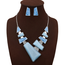 Ericdress Acrylic European Style Geometric-Shaped Jewelry Set