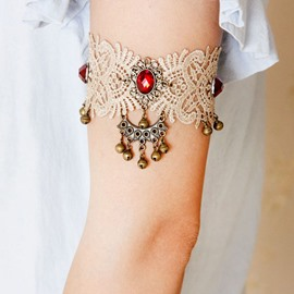 Ericdress Hot Lace Ruby Inlay Bell Bracelet