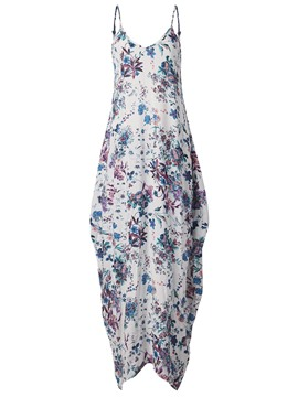 Ericdress Spaghetti Strap Floral Ankle-Length Maxi Dress