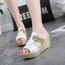 Ericdress Ethnic Patchwork Wedge Sandals