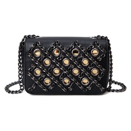 Ericdress Hollow Knitted Chain Design Crossbody Bag