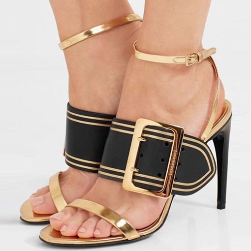 Ericdress Color Block Hasp Heel Sandals