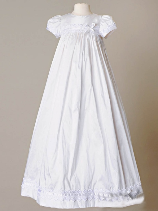 Ericdress Short Sleeve Button Baptism Christening Gown for Girls