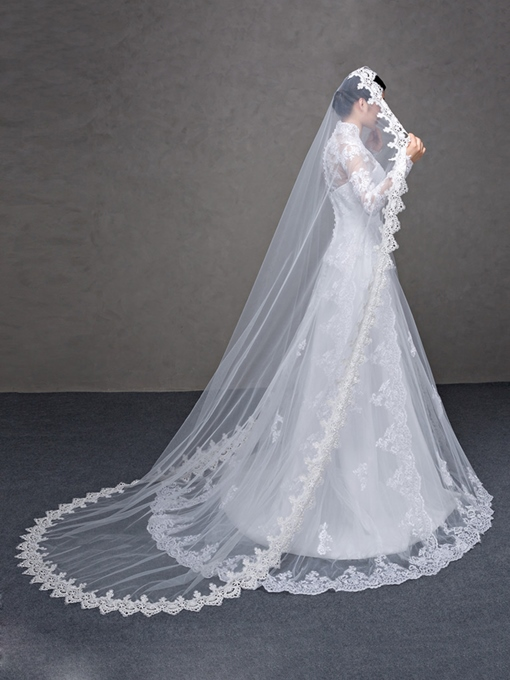 Ericdress Gorgeous Long Lace Wedding Veil for Bride