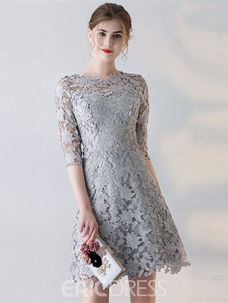 Ericdress A Line Half Sleeve Lace Short Homecoming Dress