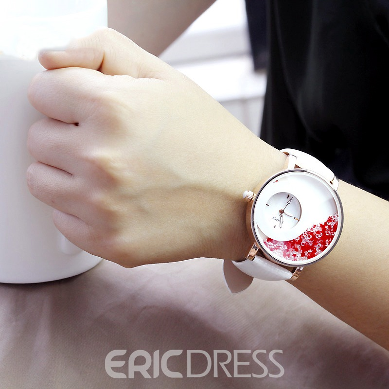 Ericdress Swan Lake Night Light Rhinestone Women's Watch
